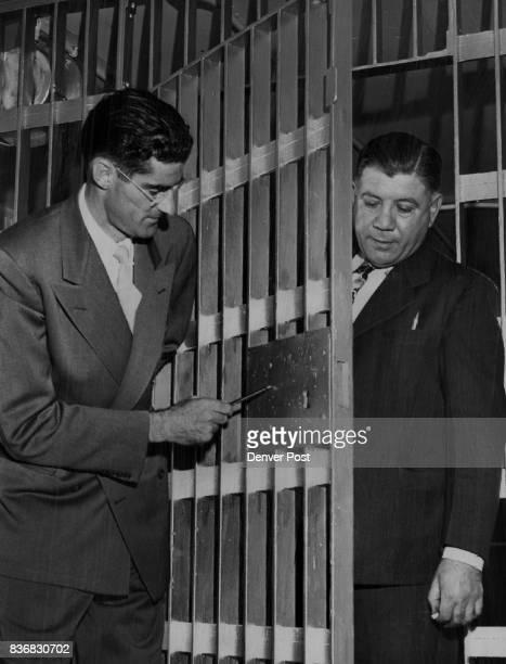 Denver County Jail Malcolm E Harris California prison expert looks over the Denver county jail with Warden Steve De Angelis Harris field...