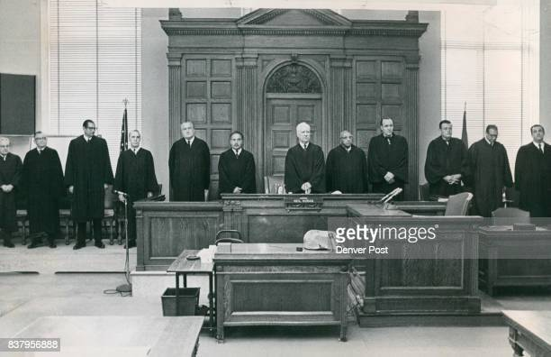 Denver District Court Opens 1969 Term Twelve of the 14 Denver District Court judges met Tuesday to learn their new assignments They are from left...