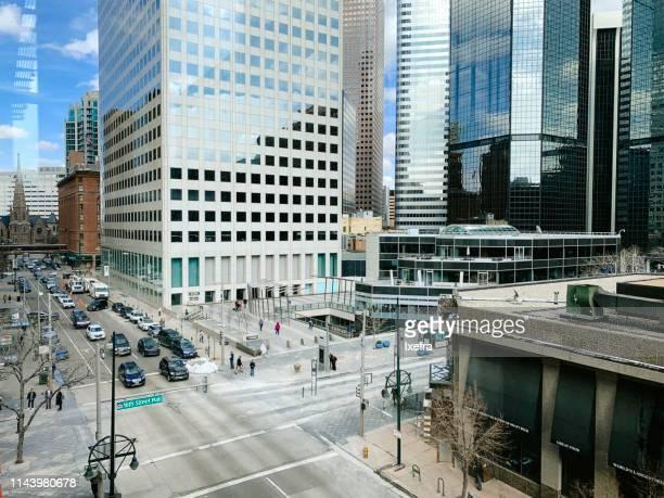 denver downtown cityscape and skyline. - denver stock-fotos und bilder