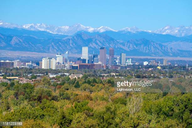 denver downtown skyline, colorado - denver stock pictures, royalty-free photos & images