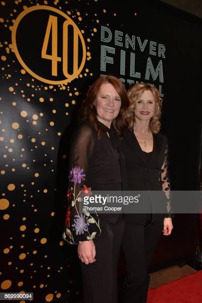 Denver Film Society Festival Director Britta Erickson and Golden Globe winning actress Kyra Sedgwick walk the red carpet at the 40th annual Denver...