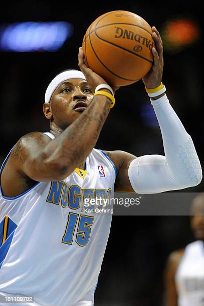 Denver forward Carmelo Anthony sunk a freethrow in the first half The Denver Nuggets defeated Partizan Belgrade 10270 at the Pepsi Center Saturday...