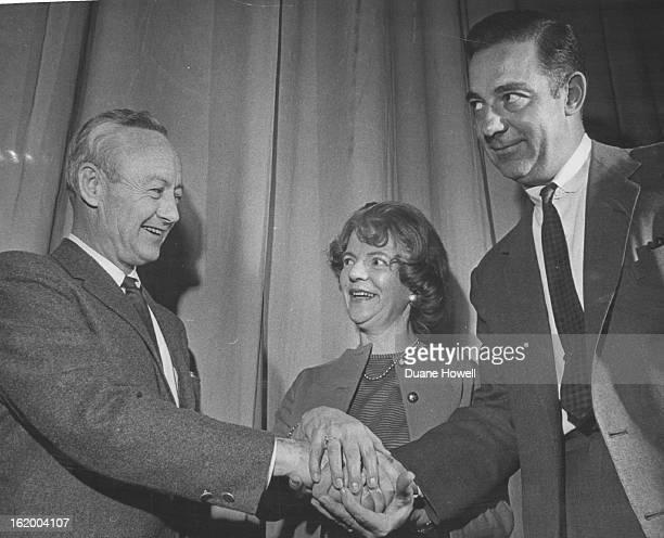 MAR 9 1965 MAR 10 1965 Denver GOP Leaders Display Unity ReElection Tuesday From left Robert E Lee chairman Mrs Helen Johnson vice chairman John B...
