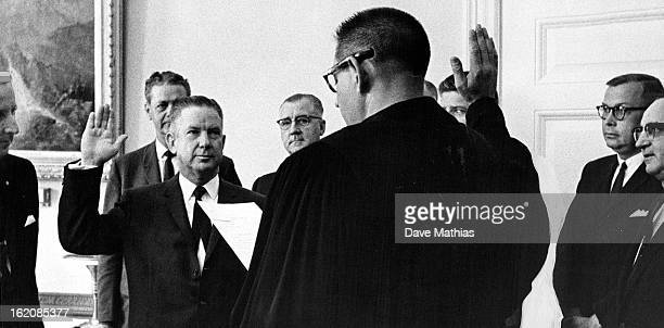 OCT 1 1963 Denver Has a New Municipal Court Judge Howard K Phillips second from right was sworn in Tuesday morning as Denver Municipal Court judge...
