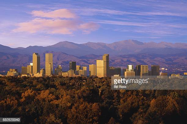denver in the morning - denver stock pictures, royalty-free photos & images
