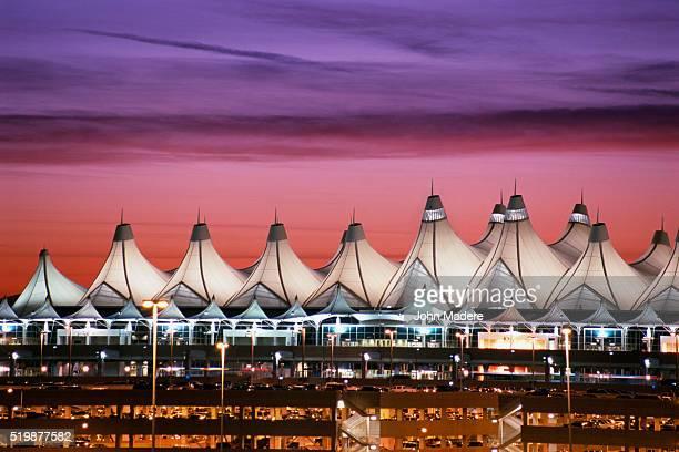 Denver International Airport at Dusk