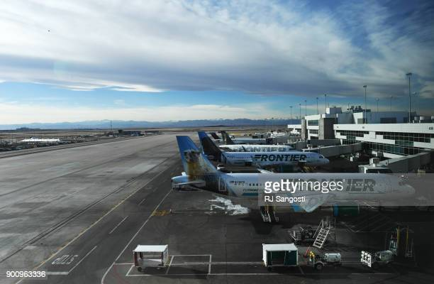 Denver International Airport on January 3 2018 in Denver Colorado