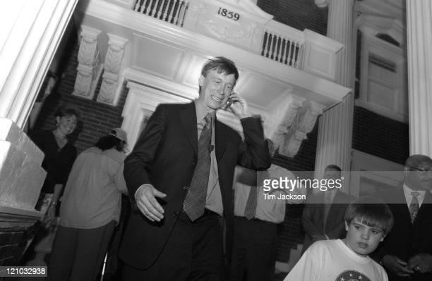 Denver MayorElect John Hickenlooper during Denver MayorElect John Hickenlooper Celebrates his Victory on Election Day in Denver Colorado United States