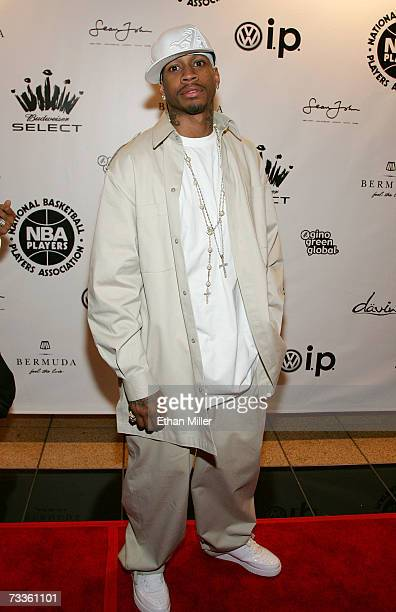 Denver Nugget's Allen Iverson arrives at the 2007 NBPA AllStar Gala presented by Budweiser Select at the Mandalay Bay Events Center on February 17...