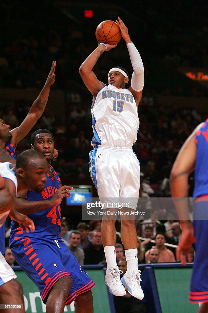 Denver nuggets carmelo anthony puts up a jump shot during a denver nuggets carmelo anthony puts up a jump shot during a game against the new voltagebd Choice Image