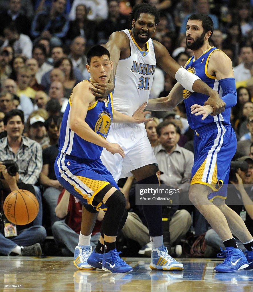 Denver Nuggets X Golden State Warriors: Denver Nuggets Center Nene Fights With Golden State
