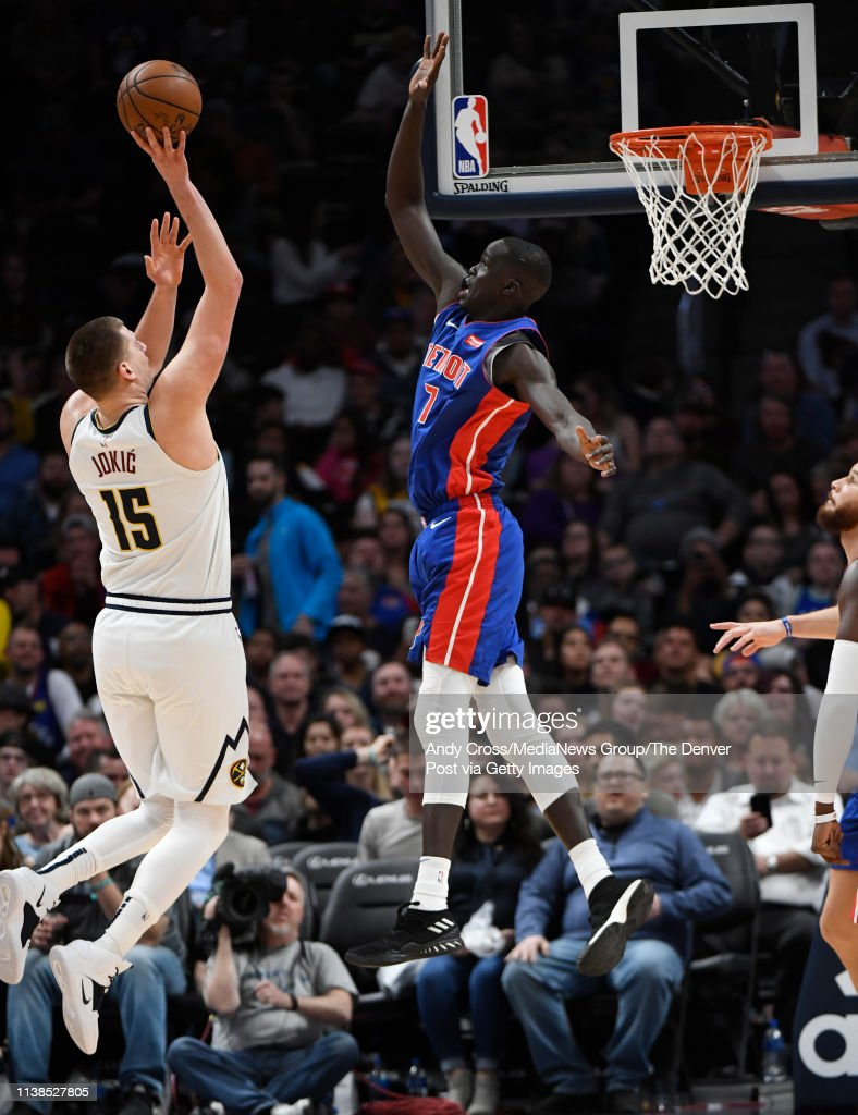 Denver Nuggets vs Detriot Pistons : News Photo