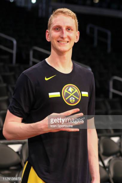 Denver Nuggets Center Thomas Welsh before the Denver Nuggets game versus the Los Angeles Lakers on March 6 at Staples Center in Los Angeles CA
