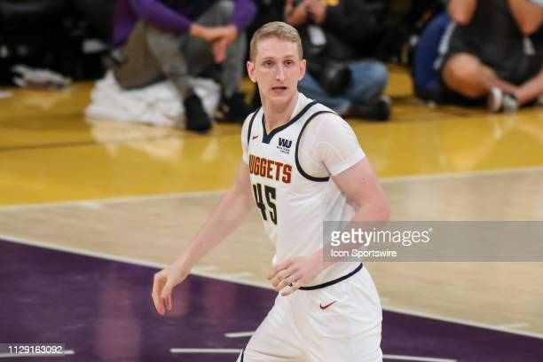 Denver Nuggets Center Thomas Welsh during the Denver Nuggets game versus the Los Angeles Lakers on March 6 at Staples Center in Los Angeles CA
