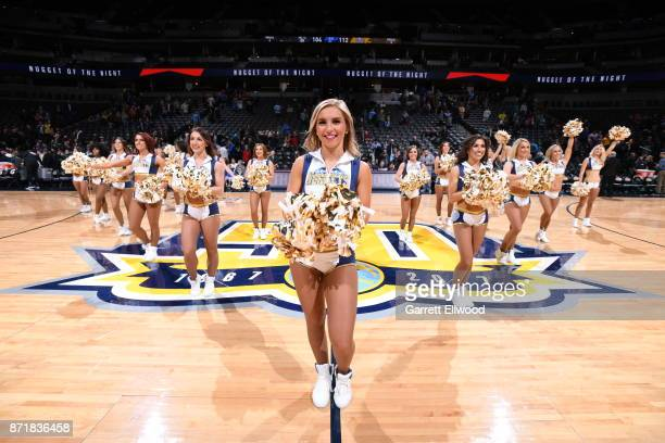 Denver Nuggets dance team performs during the game against the Brooklyn Nets on November 7 2017 at the Pepsi Center in Denver Colorado NOTE TO USER...