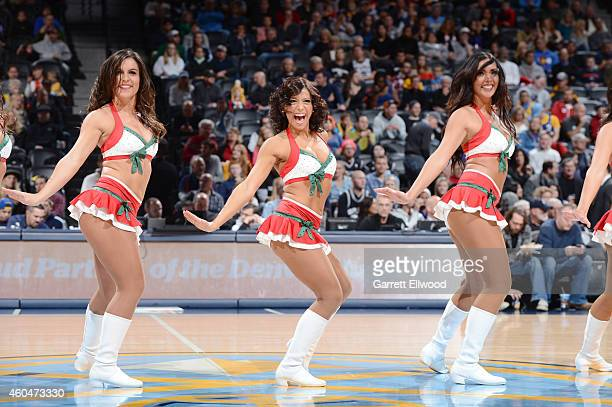 Denver Nuggets dancers perform during the game against the San Antonio Spurs on December 14 2014 at Pepsi Center in Denver Colorado NOTE TO USER User...