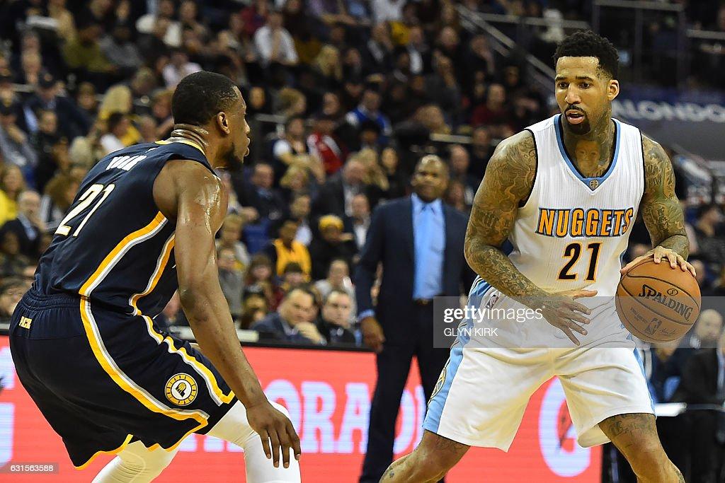 BASKET-GBR-USA-NBA-INDIANA-DENVER : News Photo