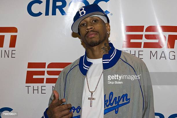 Denver Nuggets Guard Allen Iverson arriving at ESPN The Magazine's Chicken N' Waffles III 'N'Awlins' style at Riche Restaurant and Bar 528 in...