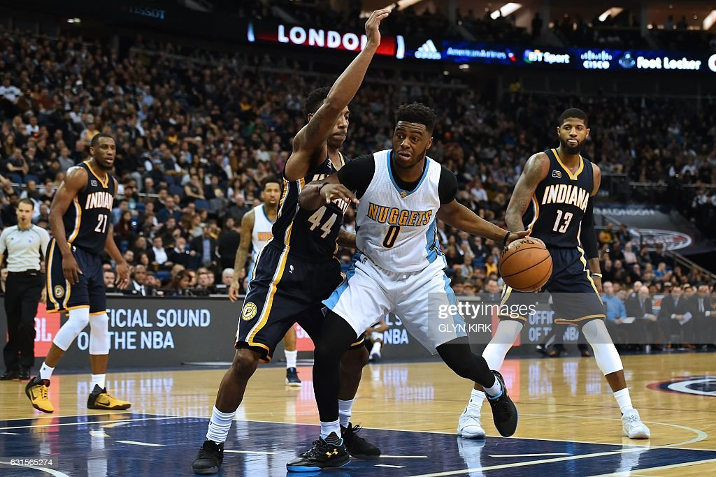 BASKET-GBR-USA-NBA-INDIANA-DENVER : News Photo
