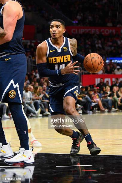 Denver Nuggets Guard Gary Harris drives to the basket during a NBA preseason game between the Denver Nuggets and the Los Angeles Clippers on October...