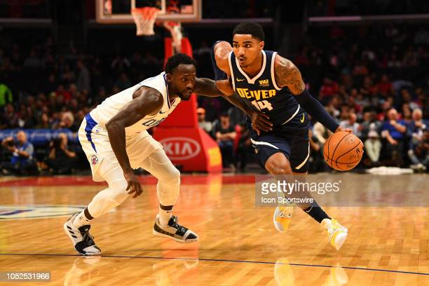 Denver Nuggets Guard Gary Harris drives to the basket during an NBA preseason game between the Denver Nuggets and the Los Angeles Clippers on October...