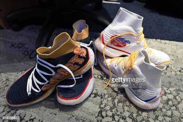 Denver Nuggets guard Jamal Murray customized basketball shoe on February 13 2018 at Pepsi Center