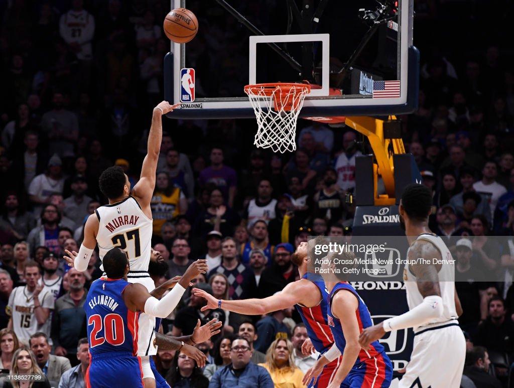 Denver Nuggets vs Detriot Pistons : News Photo