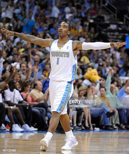 Denver Nuggets guard JR Smith during the second quarter of play against the Dallas Mavericks in Game 5 of their best of seven series Wednesday...