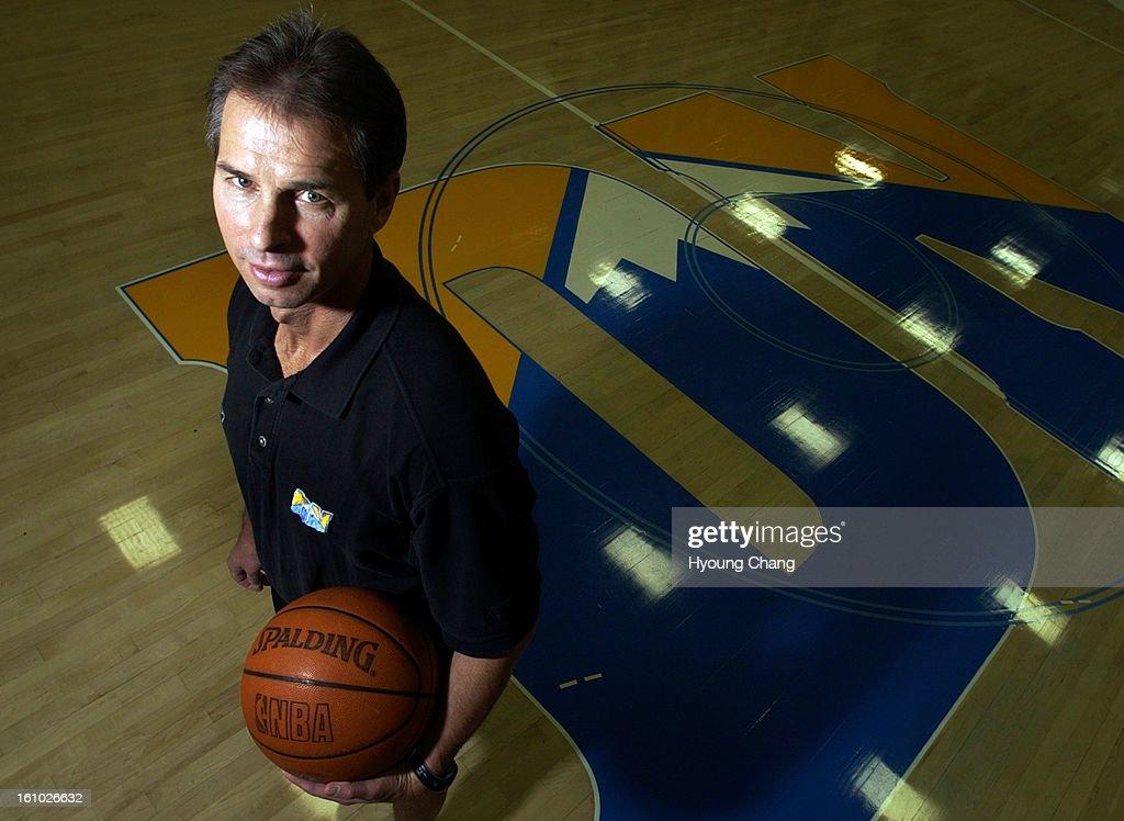 DENVER, COLO, SEPTEMBER 30, 2004- Denver Nuggets Head Coach Jeff Bzdelik at practice at Pepesi Center, Denver on Thursday. (THE DENVER POST PHOTO BY HYOUNG CHANG) : News Photo