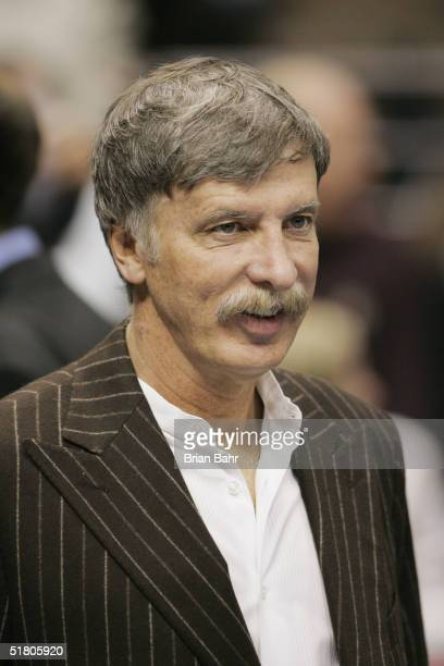 Denver Nuggets owner Stanley Kroenke is seen at the game against the Minnesota Timberwolves at the Pepsi Center on November 4 2004 in Denver Colorado...