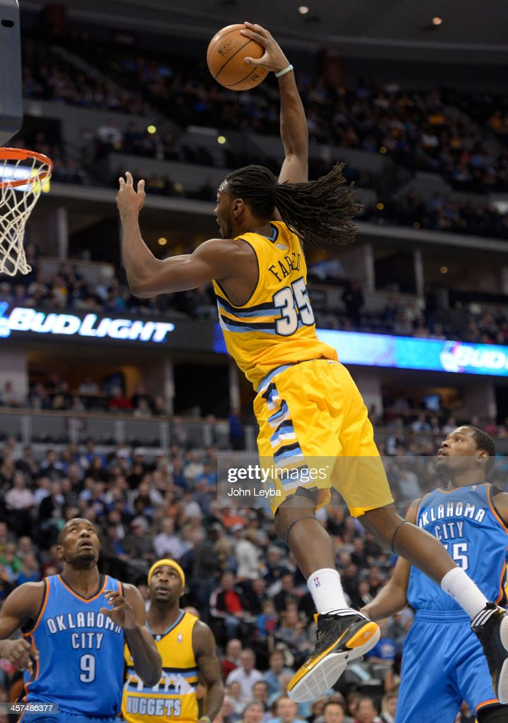 Denver Nuggets versus the Oklahoma City Thunder : News Photo