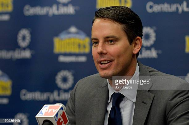 Denver Nuggets President Josh Kroenke names Tim Connelly Executive VP of Basketball Operations June 20 2013 at Pepsi Center