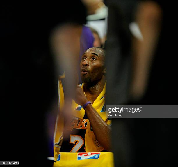 Denver Nuggets vs Los Angeles Lakers NBA Playoffs Game 4 Monday April 28 2008 at the Pepsi Center in Denver Co Los Angeles Lakers' Kobe Bryant in the...