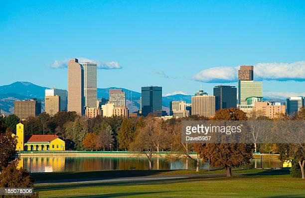 Denver skyline and park