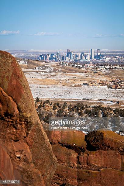 Denver Skyline As Seen From Red Rocks Amphitheater