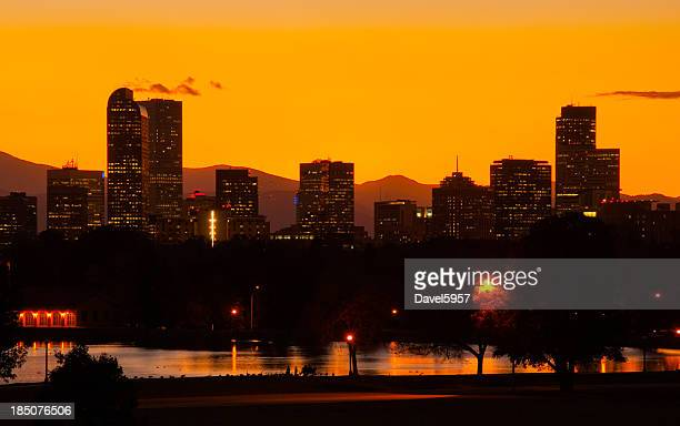 Denver skyline at dusk