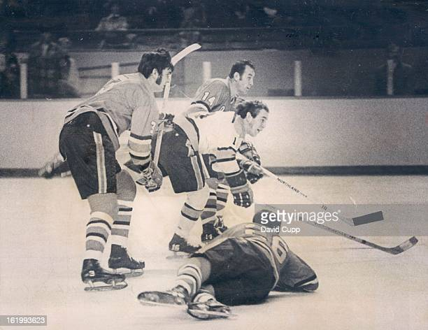 NOV 18 1970 NOV 28 1970 Denver Spurs Denver's Doug Smith Spurs Portland Defense but Shot Fails Crew of Connie Madigan Rick Foley and Andy Hebenton...