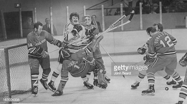 NOV 21 1973 NOV 24 1973 FEB 4 1974 FEB 6 1974 Denver Spurs Spurs Bucks Make Mayhem Connie Forey of Denver Spurs appears to be roughing things up a...