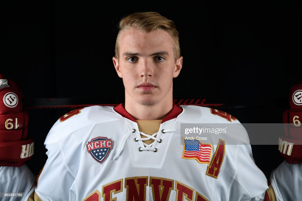 Denver University forward Troy Terry September 26, 2017.