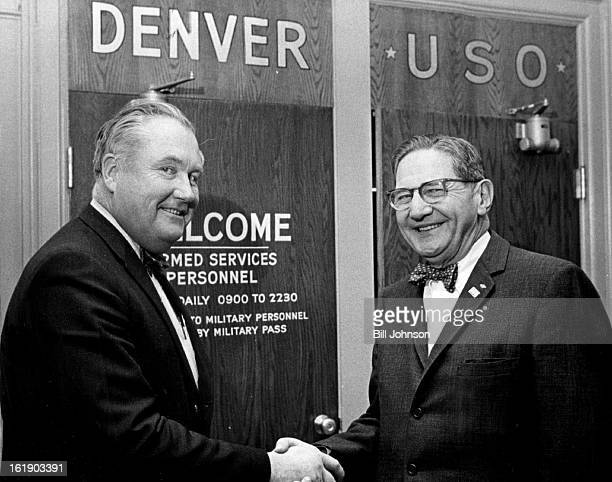 JAN 9 1967 JAN 10 1967 JAN 13 1967 Denver USO Officers Noah A Atler right was elected chairman of the board of the Denver USO Council at the annual...