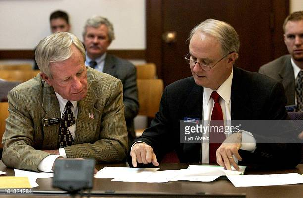 March 1 2004 Senator Jack Taylor <cq> talks with Peter A Weir <cq> Executive Director of the Colorado District Attorneys' Council <cq> about Senate...