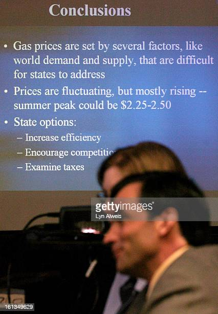 March 24 2005 The Colorado House Transportation and Energy committee received a briefing on gasoline price fluctuations nationally and in Colorado...