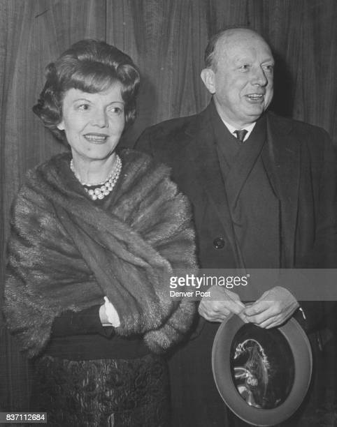 Denverites See 'A program for two players' Mr and Mrs J Ramsay Harris were in the crowd at the City Auditorium for Helen Hayes Maurice Evans opening...