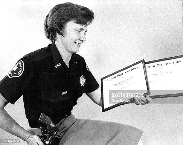 DEC 6 1968 DEC 8 1968 Denver's Annie Oakley Adds Two Trophies Miss Ida M Younger sharpshooting Denver deputy sheriff who gets her skill from her...