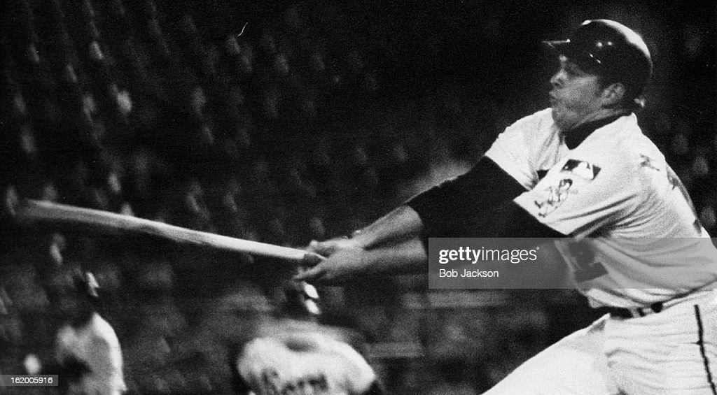 MAY 22 1969, MAY 23 1969; Denver's Jim Mooring Goes Fishing for Ball and Winds up Striking Out; Dan  : News Photo