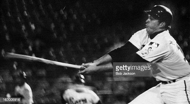 MAY 22 1969 MAY 23 1969 Denver's Jim Mooring Goes Fishing for Ball and Winds up Striking Out Dan Scheider's sidearm curve resulted in Mooring being a...