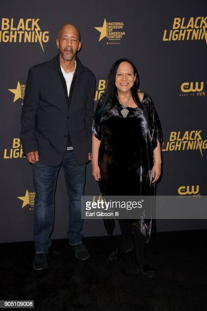Denys Cowan and Alice Randall attend 'Black Lightning' World Premiere at National Museum Of African American History Culture on January 13 2018 in...