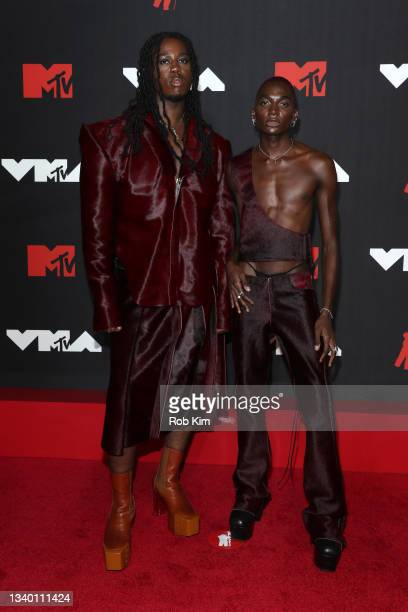 Denzel Dion and Rickey Thompson attend the 2021 MTV Video Music Awards at Barclays Center on September 12, 2021 in the Brooklyn borough of New York...