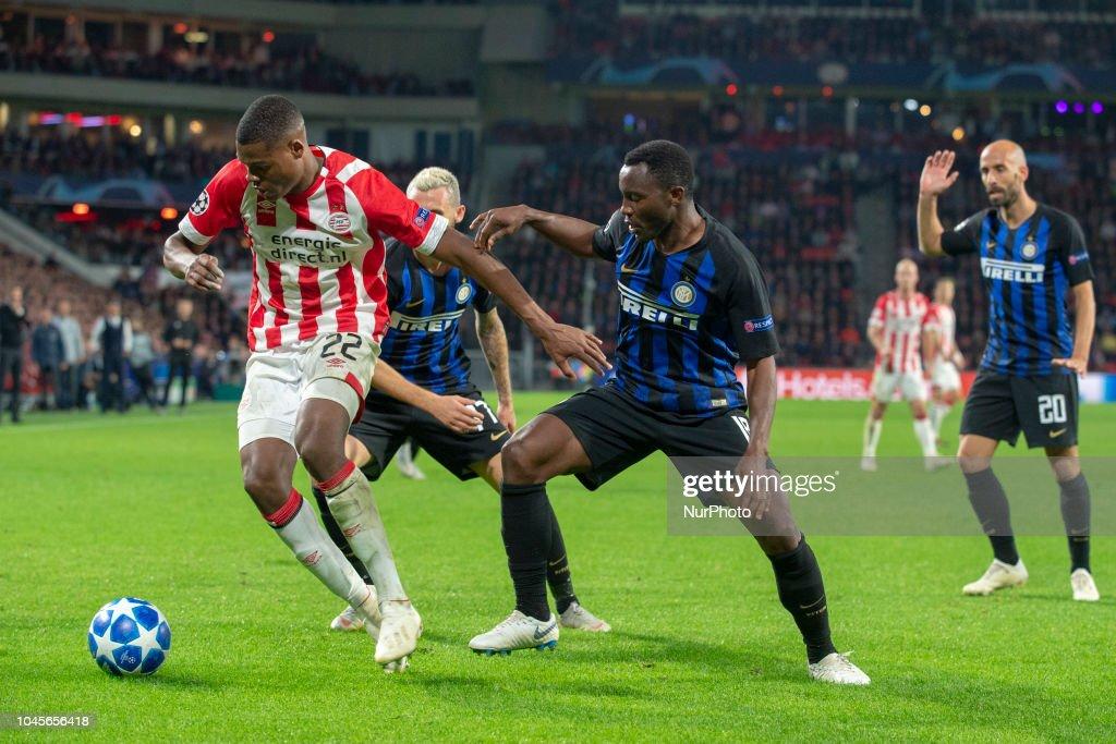 Kwadwo Asamoah's crucial error relegates Inter Milan to Europa league after PSV stalemate