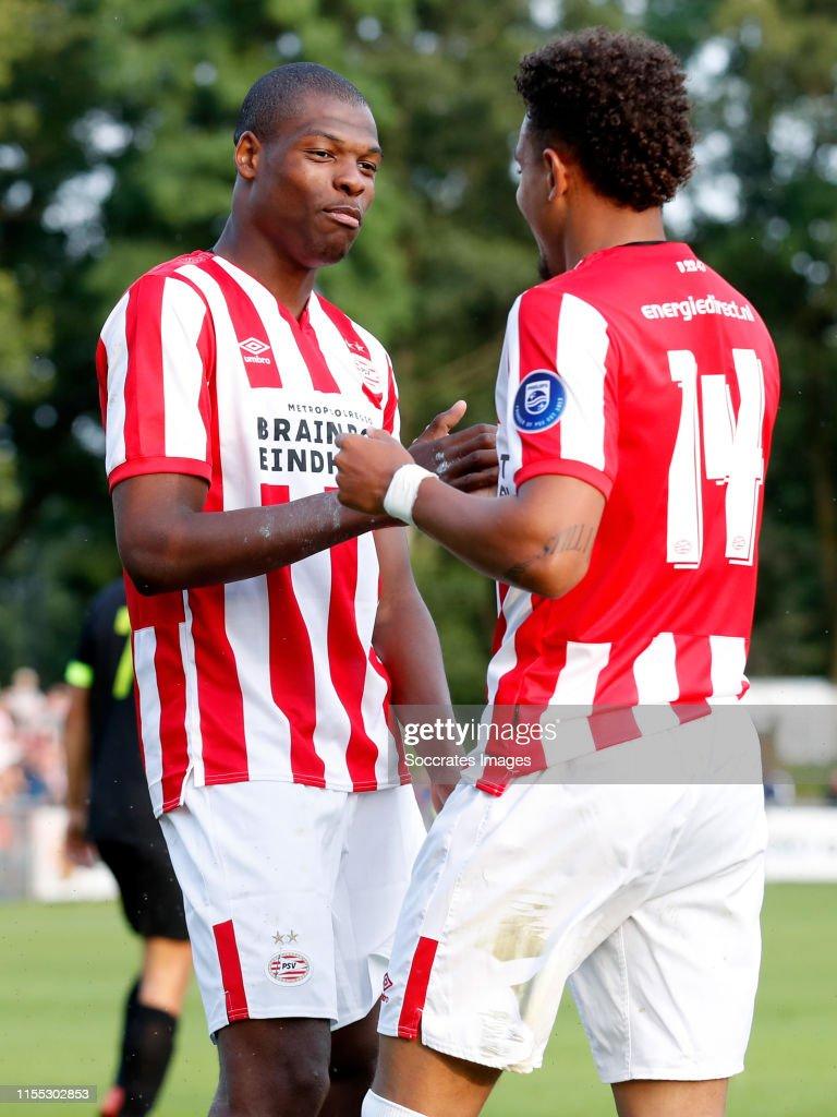 Denzel Dumfries of PSV, Donyell Malen of PSV celebrate 2-0 during ...